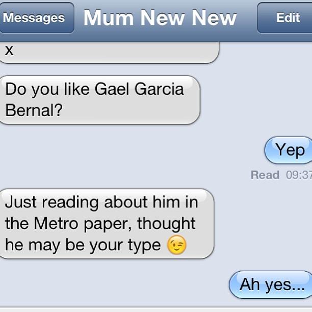 Classic mum text.
