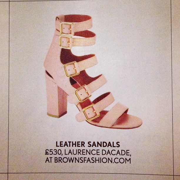 MAJOR WANT… Lusting after these pretty sweet @laurencedacade leather sandals on the last page of @british_vogue #voguetreats! A treat indeed!!!!!! #wishlist #ss13 #shoes #wardrobe #fashionblogger