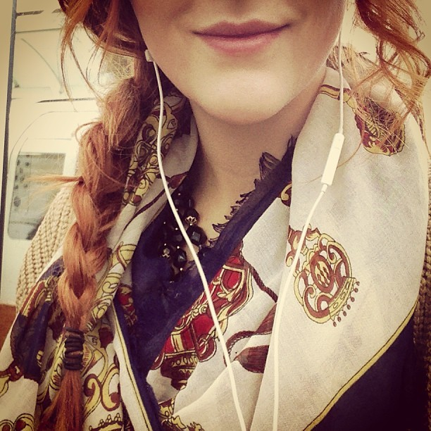 #todayimwearing Music, plait and print.