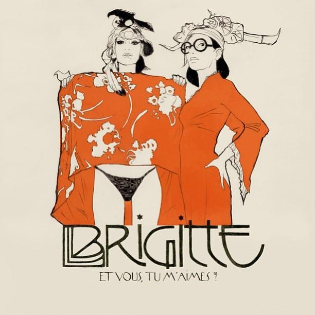 What FABULOUS album artwork… Brigitte - Battez-vous. @spotifynowplay.