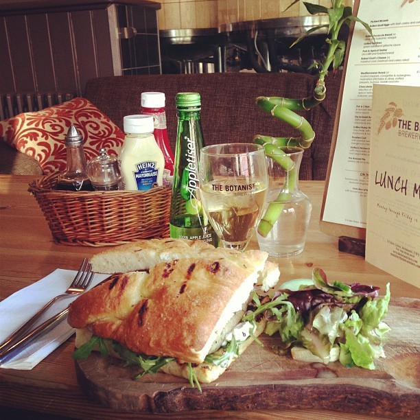 A big fat sausage butty @_TheBotanistKew. A great Monday afternoon pick-me-up!
