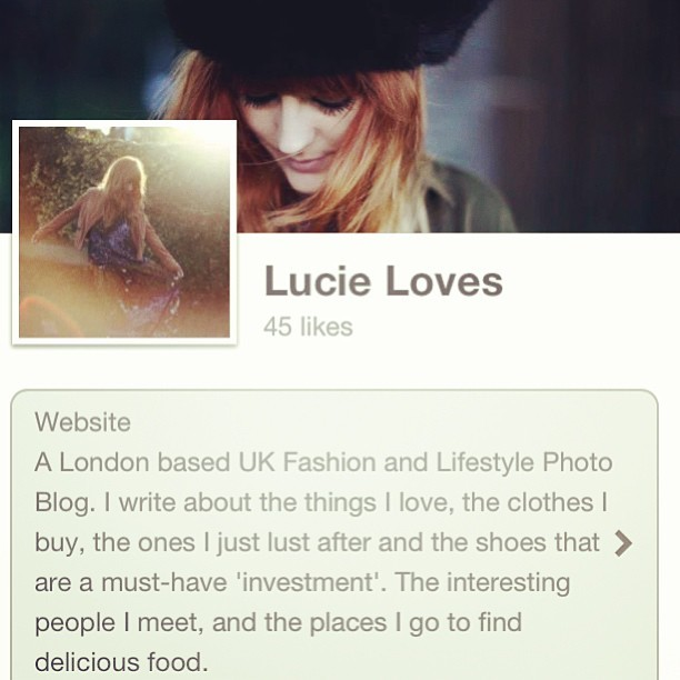 Please 'like' my Lucie Loves fashion & lifestyle blog Facebook page:  www.facebook.com/lucielovesuk  Thank you. X