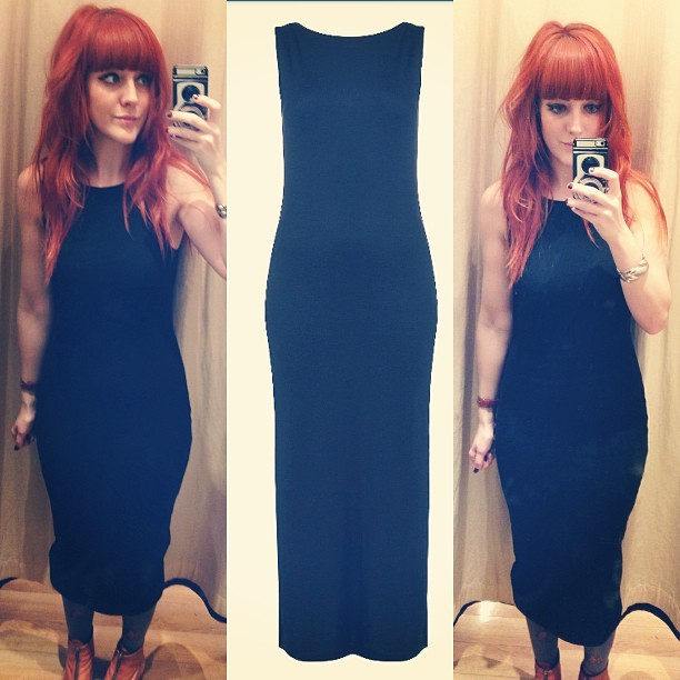 Currently hooked on this @topshop, £29, sleeveless jersey midi dress.