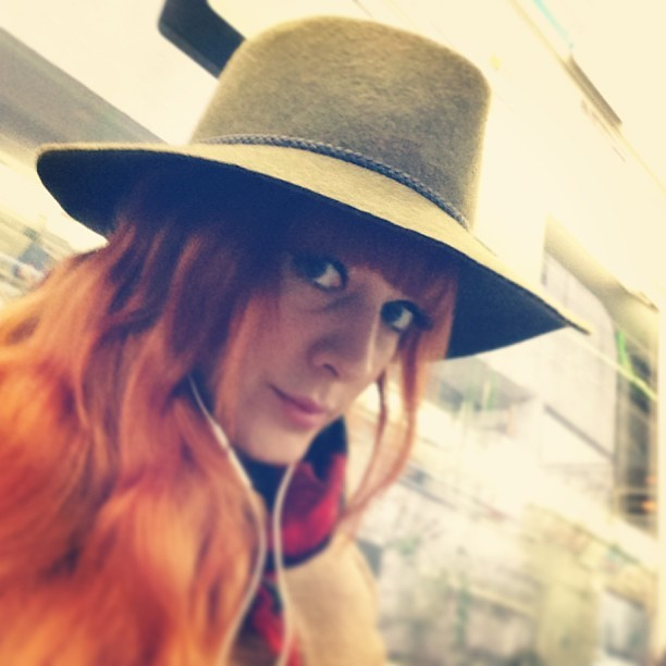 Decided to be a bit 'out there' today and wear my @reiss Scarlett khaki trilby to work. My head was lovely and warm. I just wish Reiss did hat boxes… #theresanidea #fashion #style #blogger #whattowear #inspiration #photo #me #girl #redhead #hair #print #fblogger #clothes #ootd #wiwt #instapic #outfit #whatiwore #igdaily #london #fashiondiaries #aw12 #instafashion