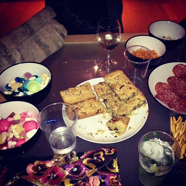 Clutch bags, retro sweets and cured meats! #happynewyear with @jenismay1 @jmgcreative @mcbennett1 #treats #fashion #armcandy