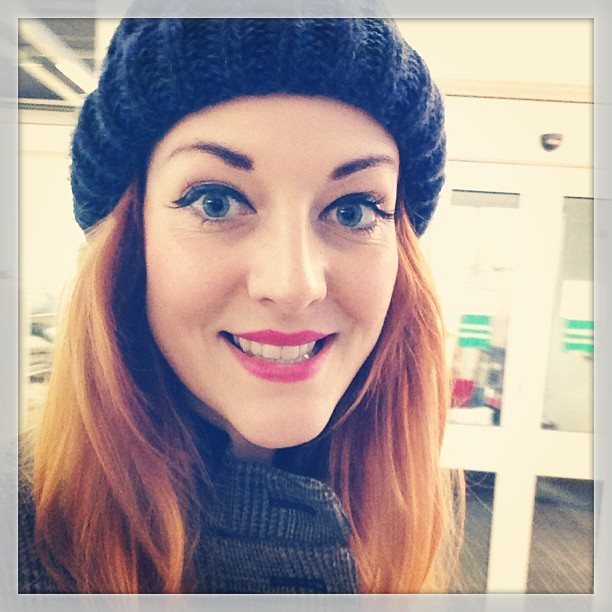 Baaaaad hair day… Thank goodness for @urbanoutfitters woolly hats! #lazylucie