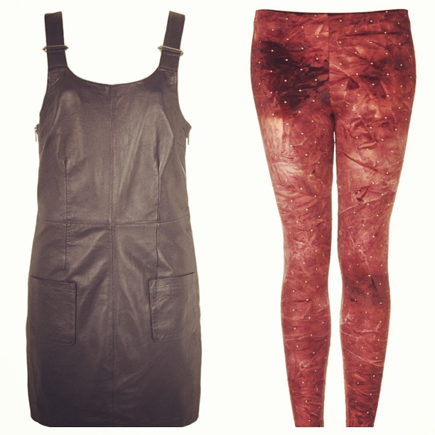 Dear Santa aka @Topshop, just a couple of items on my Xmas #wishlist. Boutique Leather Pinafore, £125, black or navy will do 😜, and these scrumptious velvet tie-dye leggings with stud detail, £20, because I have the black ones already and they'd like a friend! #Fashion #style #blogger #whattowear #inspiration #photo #me #girl #redhead #hair #print #fblogger #clothes #ootd #wiwt #instapic #outfit #whatiwore #igdaily #london #fashiondiaries #aw12 #instafashion