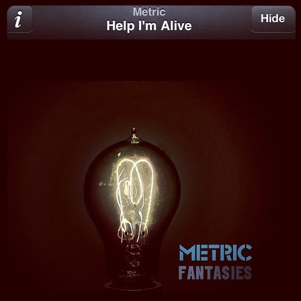 The boyf put this song on my Spotify playlist. It's pretty siiick👷🎶 #Metric - Help I'm alive. #NowPlaying