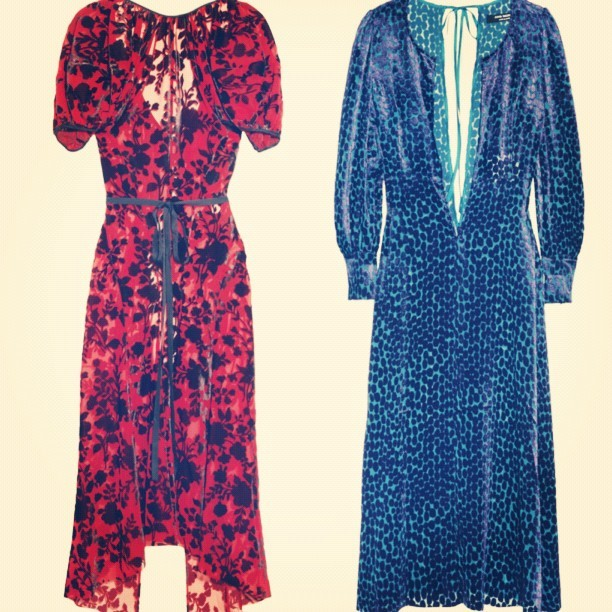 Oh my! #JunyaWatanabe you've found a new fan girl! I adore these beautiful Velvet Jacquard dresses @NETAPORTER! Anyone fancying parting with a few bob and buying me one ( or two) for Christmas? I've been ever sooo good, I promise! #fashion #lusthave #beautiful #want #dress #japanese #designer #print #fblogger #style #christmas #shopping #luxury