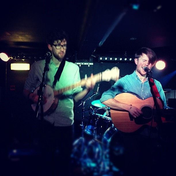 Two of the HAPPIEST musicians I know - @Boat_to_row @sebrightarms, East London.