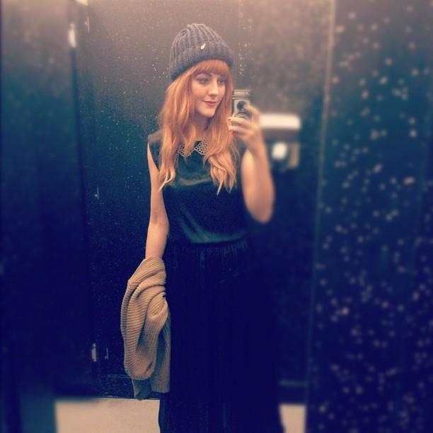 #todayimwearing my @borneby #EliseBerger @ybdfashion #Euphenio Black Silk Dress. @sonyuk #sonyrealtimegallery #fashion #style #blogger #whattowear #inspiration #photo #me #girl #redhead #hair #print #fblogger #clothes #ootd #wiwt #instapic #outfit #whatiwore #igdaily #london #fashiondiaries #aw12 #instafashion