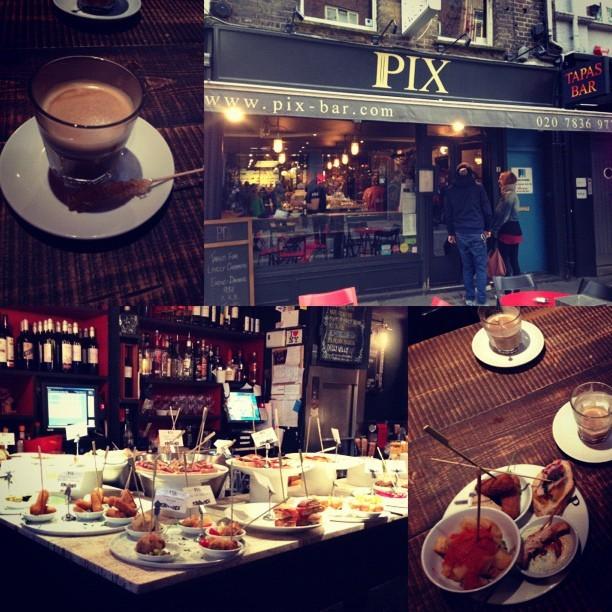 Amazing tapas 'picky' food @pixbar with @jmgcreative @willalexander87 @HannahLQuick at #Pix near Covent Garden, London.