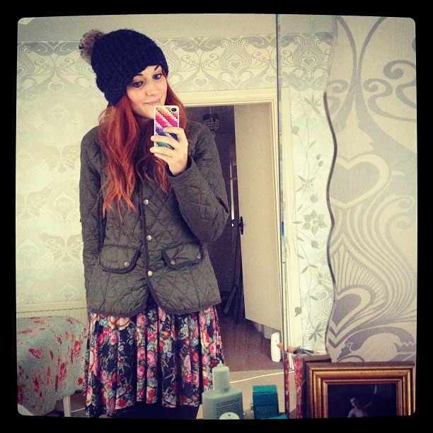 Off to buy kindling!     You're right @madebyothers it's @OfficialBarbour jacket & a bobble hat time-of-year!