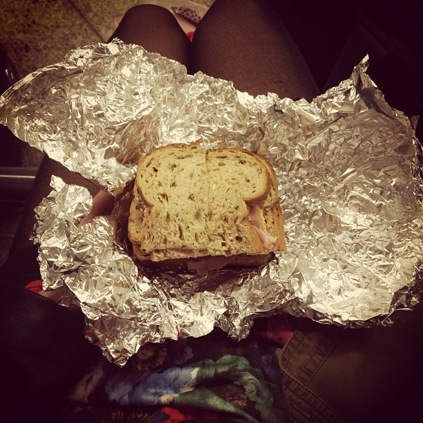 My Nanny Nooch made me a packed lunch for my ridiculously long train journey home. You'd love it @jmgcreative.