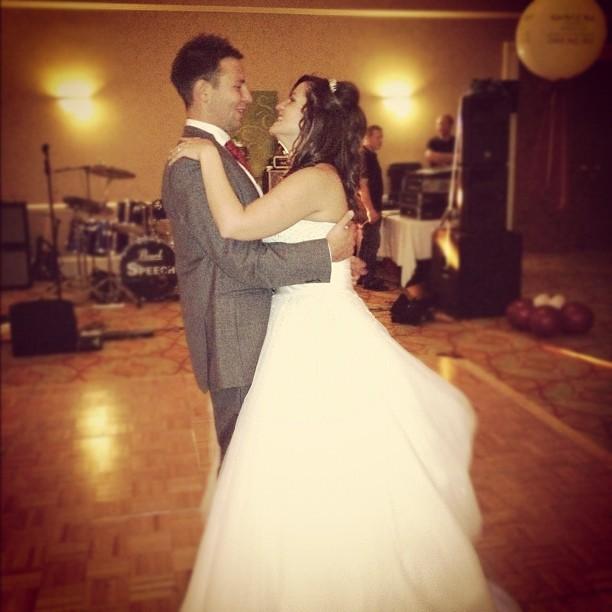 First Dance. #wedding #bride #groom #photo  (Taken with  Instagram )
