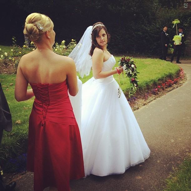 Beautiful Bride! Mrs Rachel Statham!  (Taken with  Instagram )