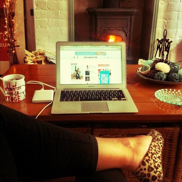 A roaring log burner fire… In July?!? I'm not kidding! I'm sat here in slippers & a chunky knit jumper #tooscaredofE.onsGasBill #britishsummertimejoke (Taken with  Instagram )