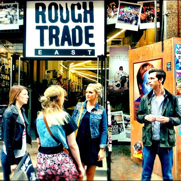 Hanging out with the kids in London. #RoughTrade @solearysmith @tunnelout @mellyt26 @sophieolearysmith  (Taken with  Instagram )