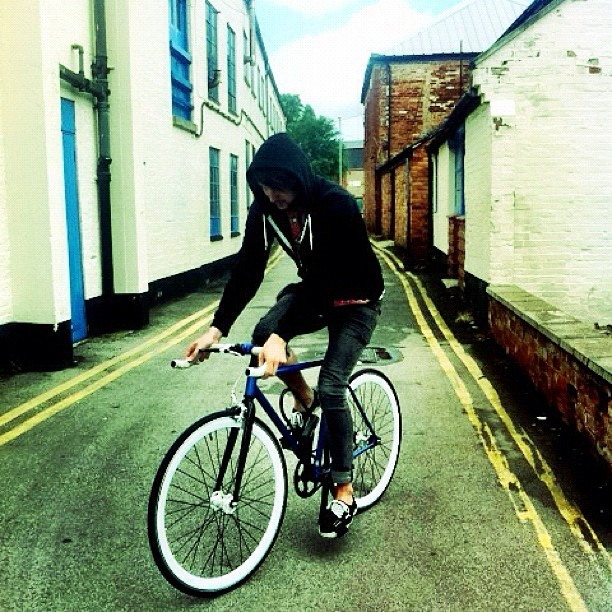 """""""I want to ride my bicycle! I want to ride it now!"""" @jmgcreative on his beloved fixie. #photo #bike (Taken with  Instagram )"""