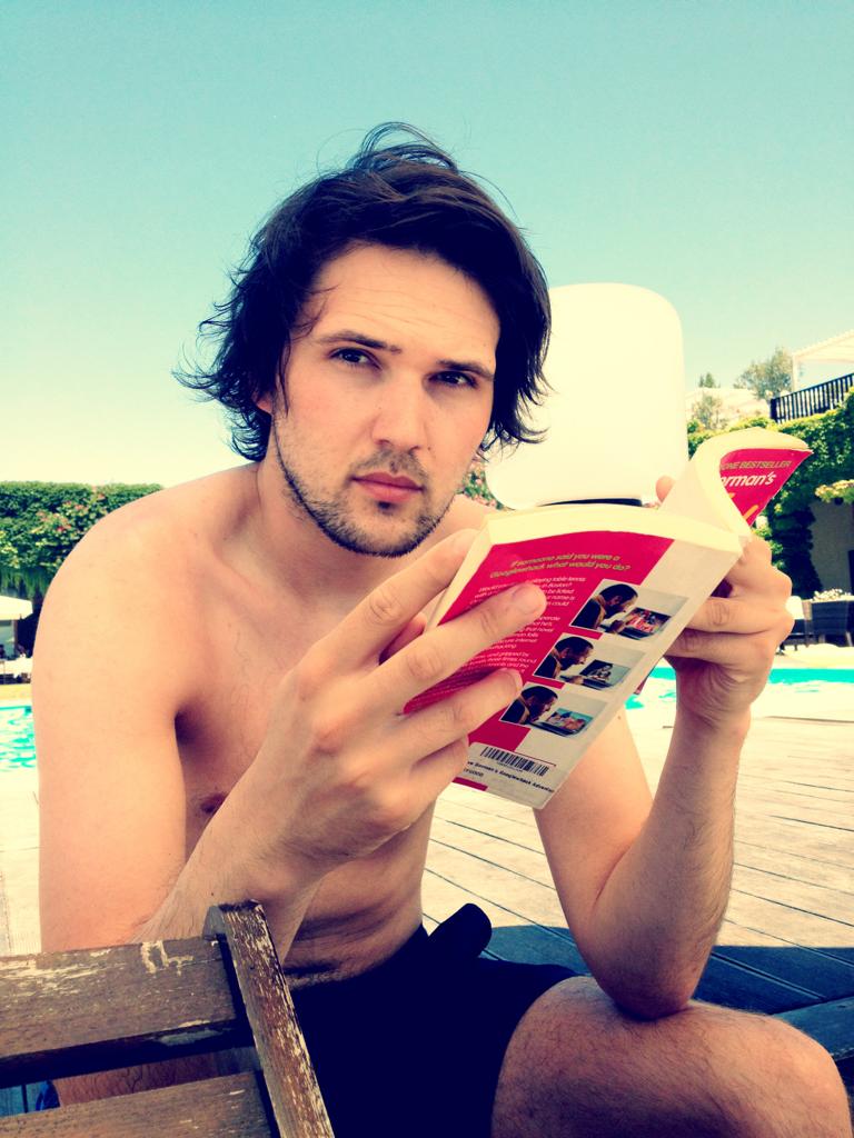 One very sexy man… Oh yes! He's mine… @jmgcreative #surfhair PHWOARRR!