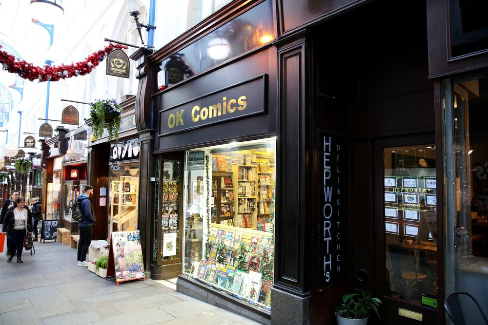 Lucie Loves OK Comics shop Leeds