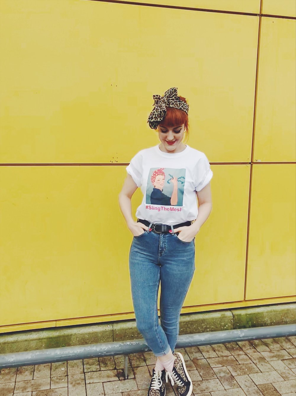 Blogger Lucie Loves Sling the Mesh tshirt