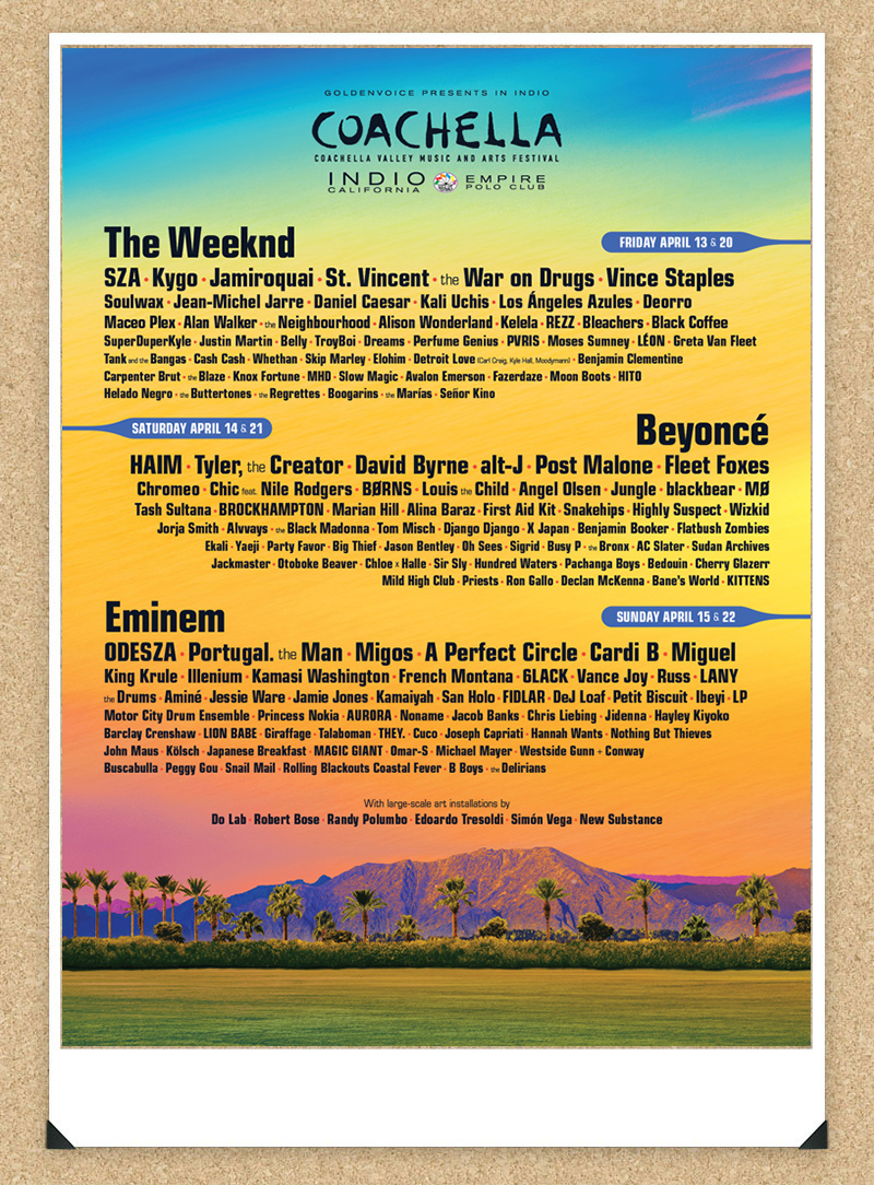 2018 Coachella Line-Up looks sooo good!!!