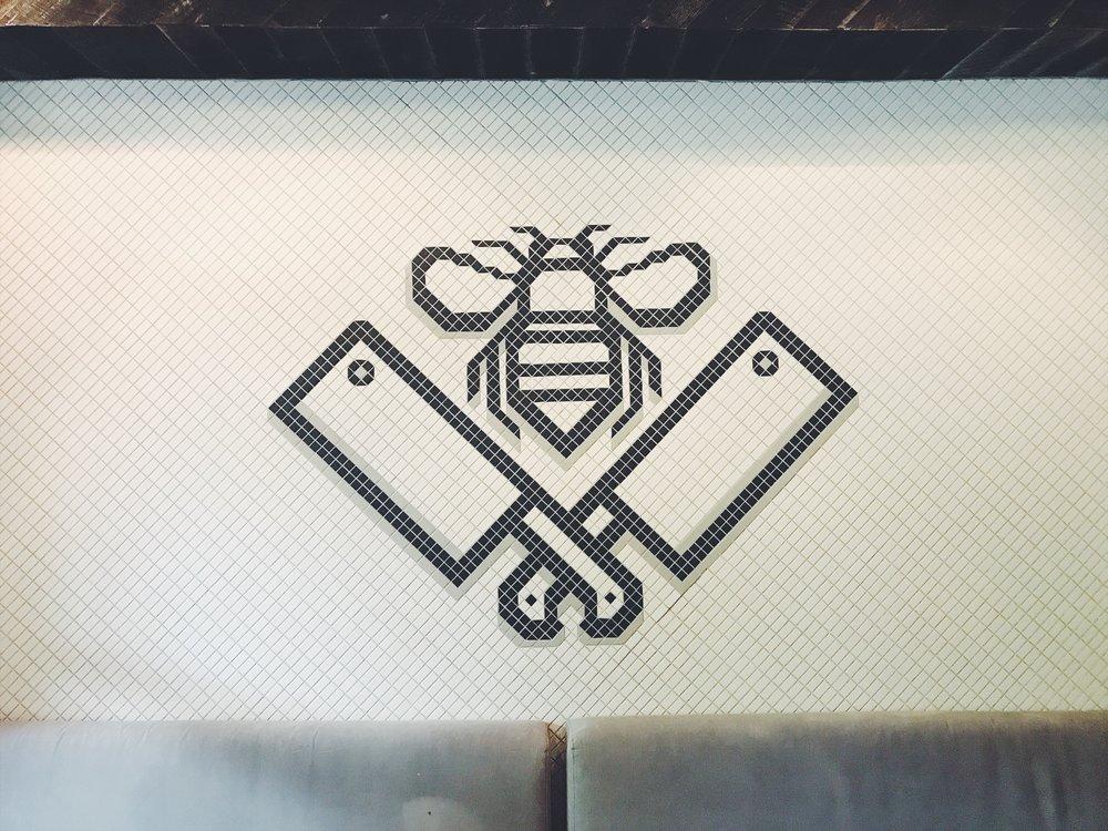 Fancy tiles at Butcher & Bee