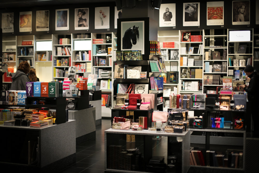 The Fotografiska museum shop has an abundance of photography books, prints and souvenirs