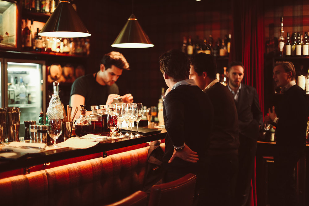 Standing room only at Tweed Bar, one of Stockholm's most delectable, hipster cocktail joints