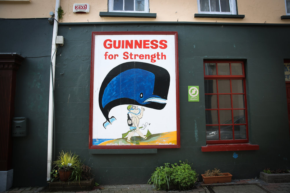 Guinness for Strength advertisement, Kinsale – one of the places we stopped off on our drive from Cork to Skibbereen