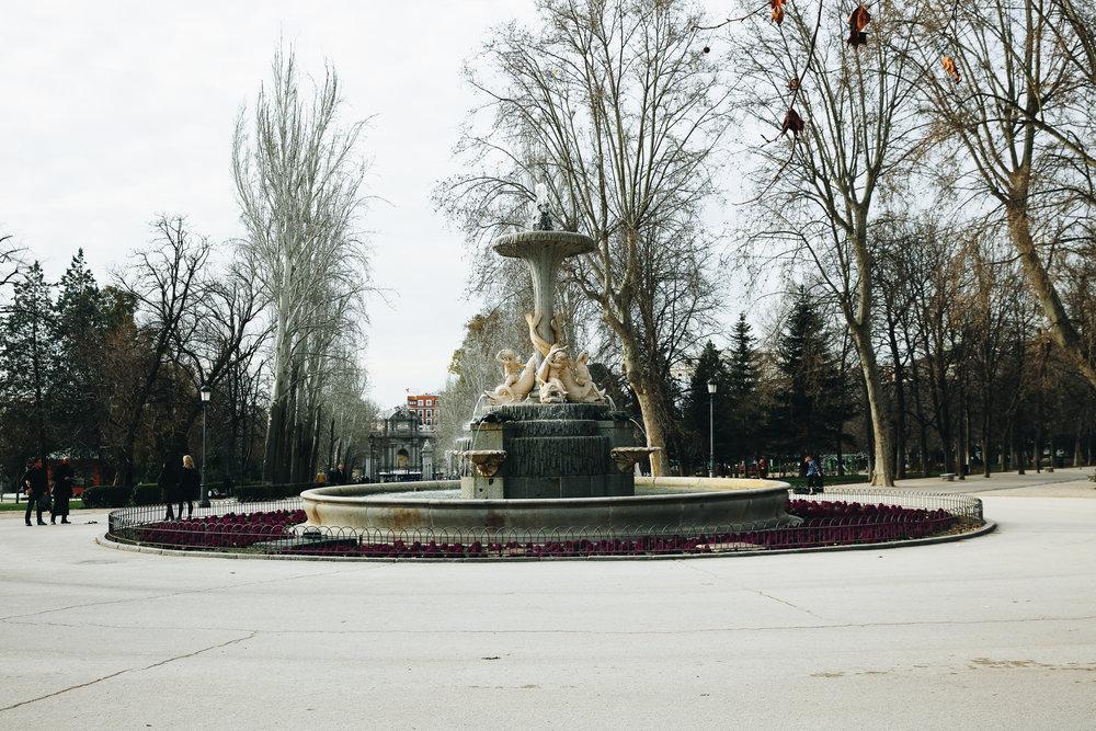 Retiro Park Fountain, Madrid