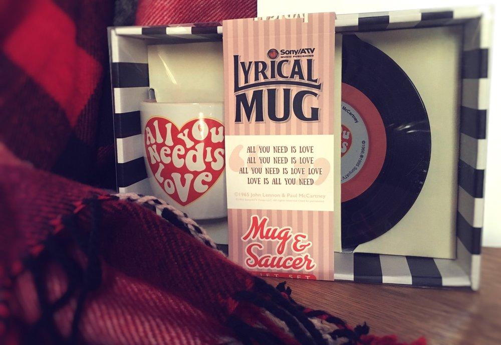 All you need is love lyrical mug