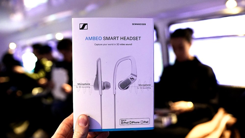 Sennheiser AMBEO Smart headset Influencer