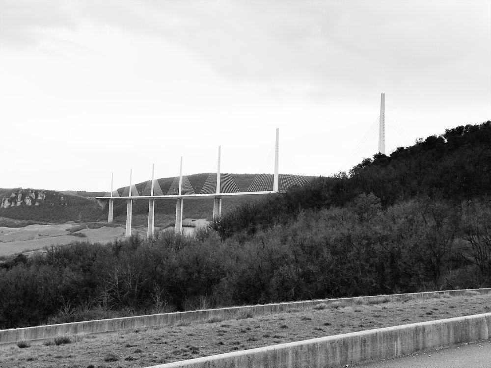 Millau Viaduct, France. March 2018