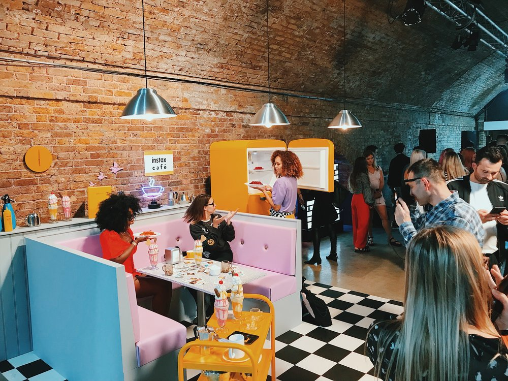 You've heard of Instagramable? Well, this was Instaxable! Instax and MC Saatchi PR had gone all out with the styling of the Instax Cafe at the SQ6 launch event. The colours were literally popping!