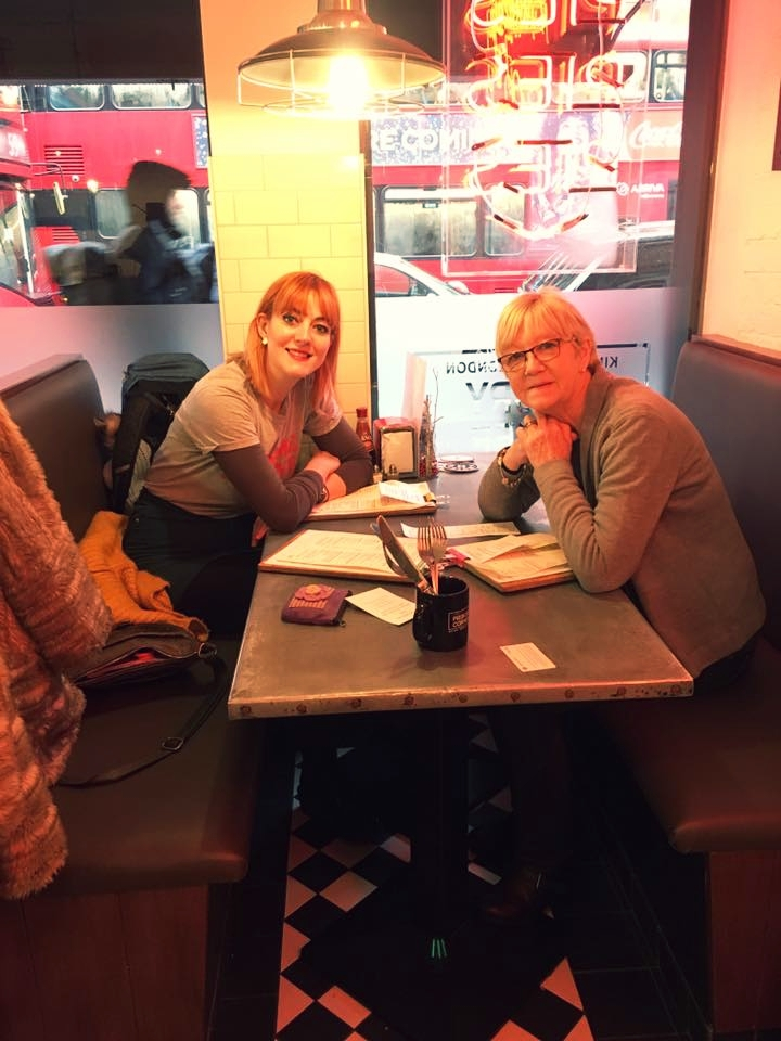 A Taste of the North - A photo of my Nan and me, taken by my Mum – just before we demolished our pies!