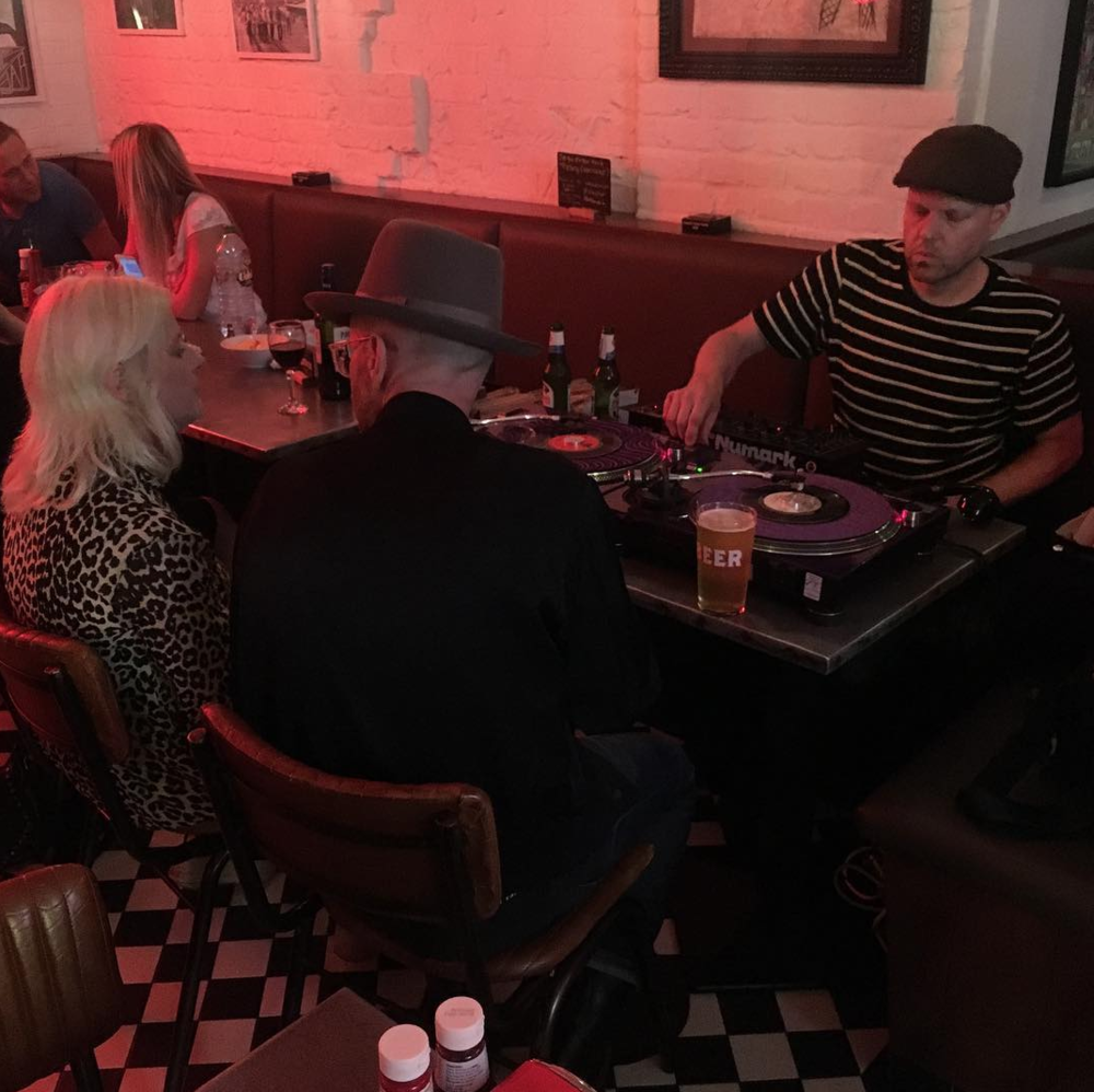 "DJ Ironingboard on Instagram: ""That pint of  #lager  is dangerously close to the  #turntable  but another top night was had down the  #eattothebeat  club on Saturday with  @badseedlou  and killer tunes from  @matflint  Andrew Innes from  @primalscreamofficial"
