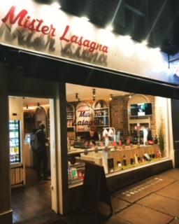 Mister Lasagna restaurant Rupert Street
