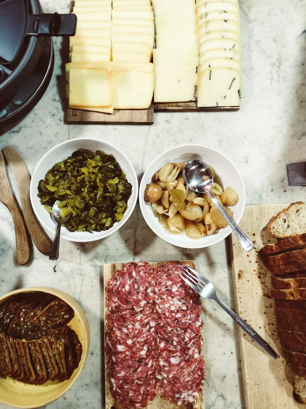 Lucie Loves Paxton and Whitfield raclette party ideas