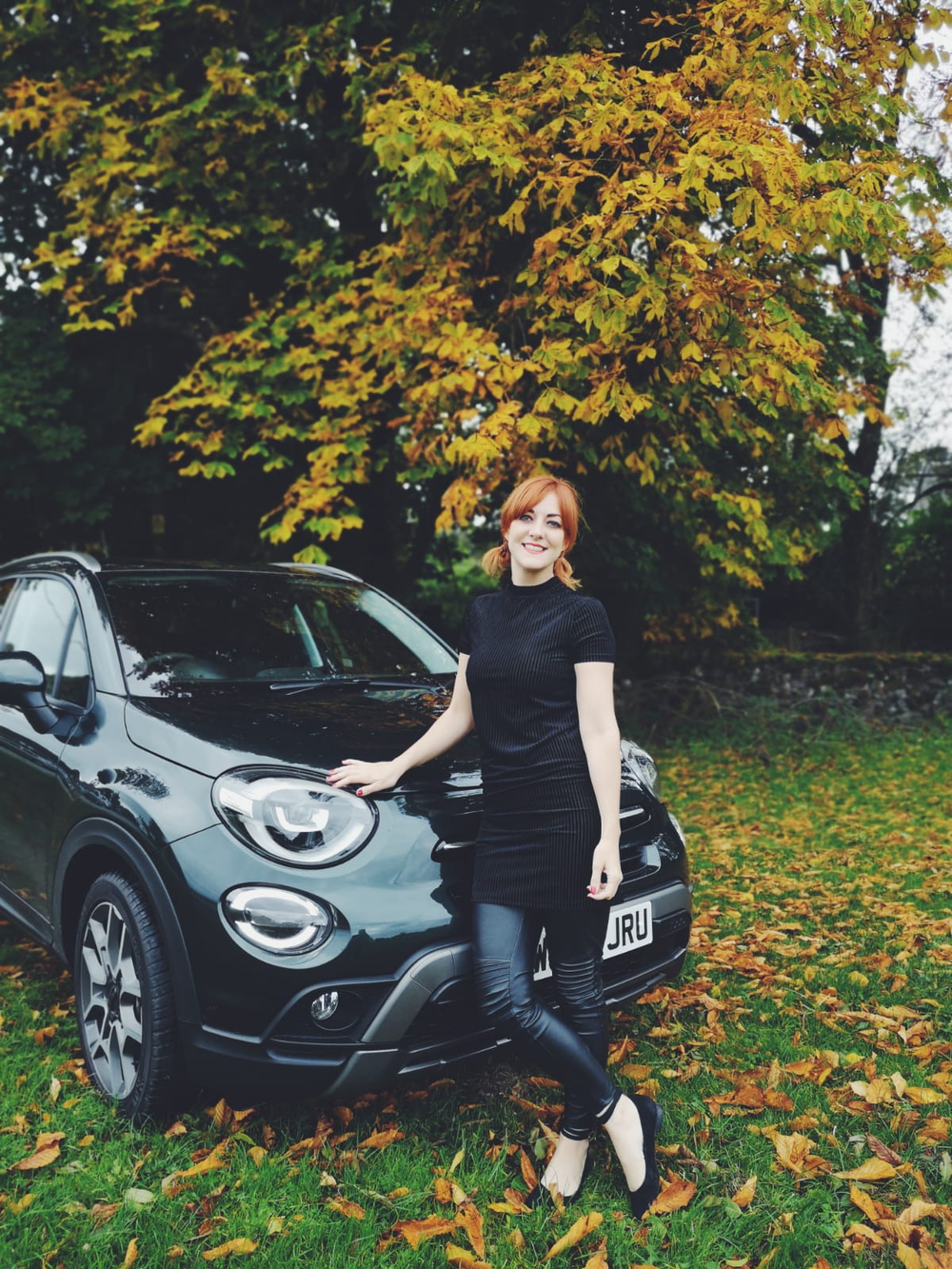 Blogger Lucie Loves test-driving the new Fiat 500x Cross Plus SUV