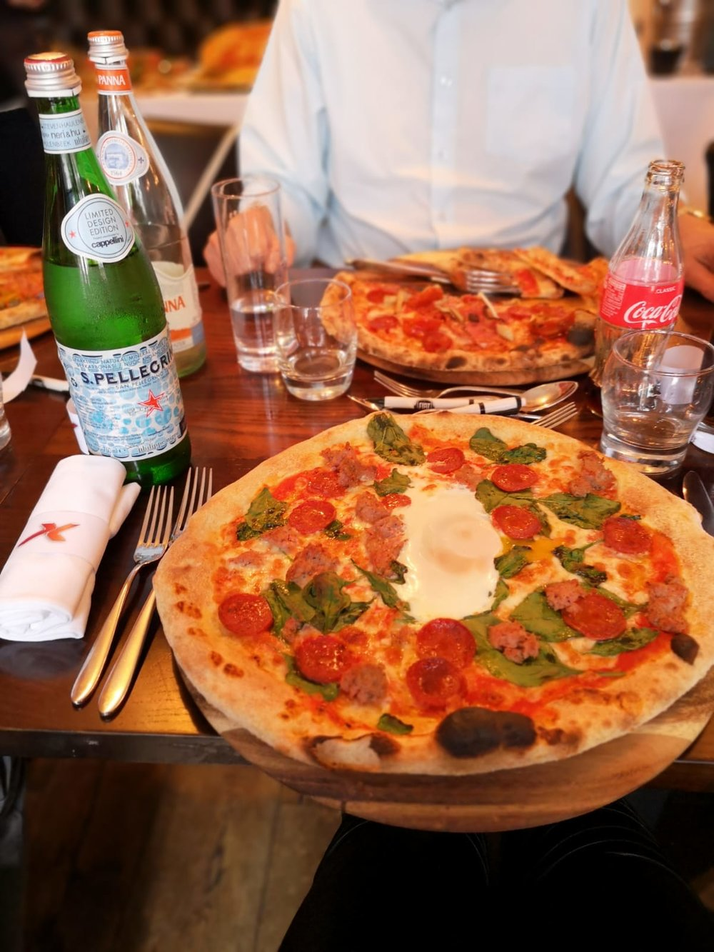 For me... the Fiorentina pizza with added pepperoni is my go-to choice!