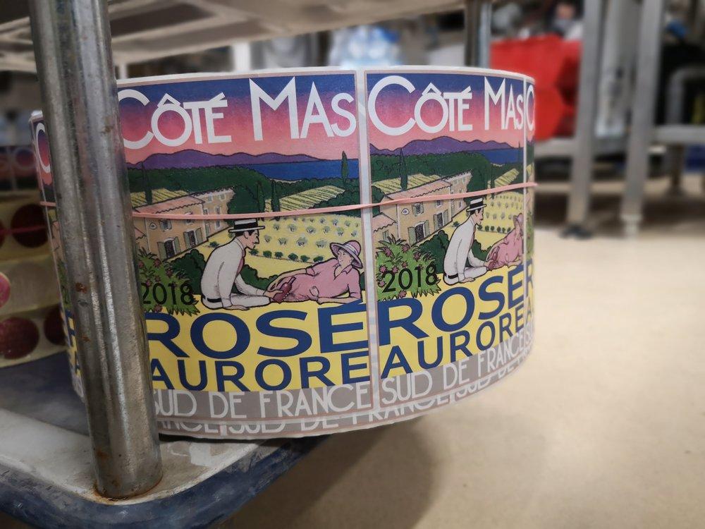 Cote Mas Rose Aurore Wine Label