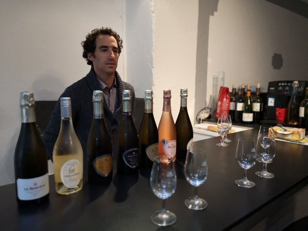 A selection of Paul Mas' Sparkling Wines for our tasting at Chateau de Martinolles