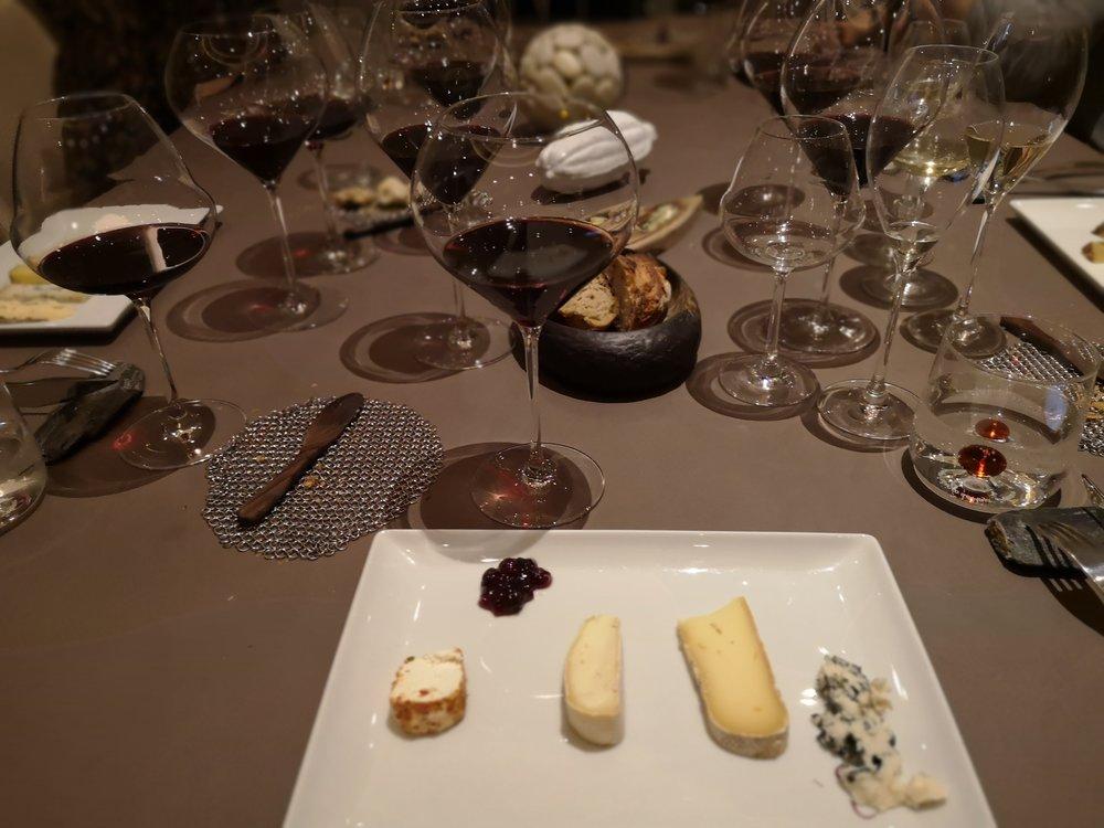 Cheese course at Le Parc Restaurant Carcassonne