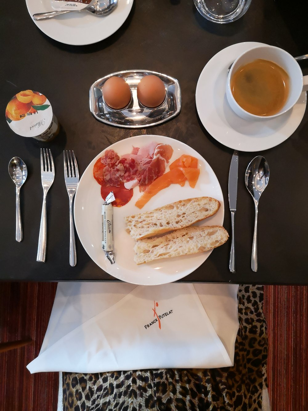 Breakfast at Le Parc Franck Putelat Carcassonne Hotel