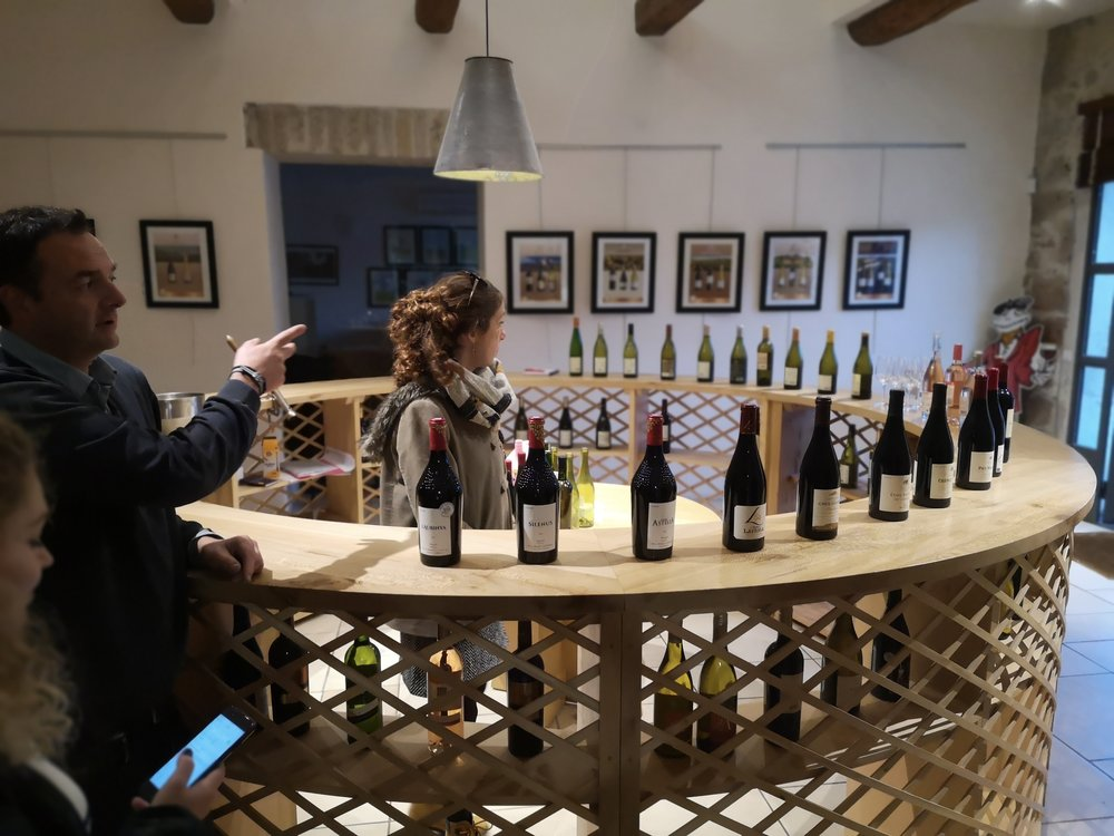 Paul Mas' Côté Mas wine-tasting session… Just 24 different wines from the Languedoc