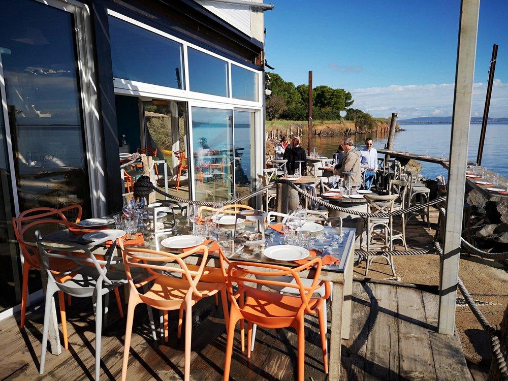 Tarbouriech Oyster Farm restaurant Etang de Thau, Languedoc