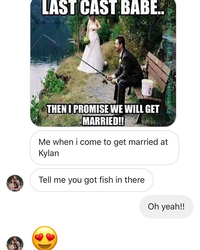Just because you found your fish in the sea doesn't mean you can't fish at your wedding! Kylan Barn has 3 ponds on site for you and your guests to fish out of! We know @corythessin15 is excited ☺️🐠🐟🎣 ⠀⠀⠀⠀⠀⠀⠀⠀⠀ •⠀⠀⠀⠀⠀⠀⠀⠀⠀ •⠀⠀⠀⠀⠀⠀⠀⠀⠀ •⠀⠀⠀⠀⠀⠀⠀⠀⠀ •⠀⠀⠀⠀⠀⠀⠀⠀⠀ •⠀⠀⠀⠀⠀⠀⠀⠀⠀ •⠀⠀⠀⠀⠀⠀⠀⠀⠀ •⠀⠀⠀⠀⠀⠀⠀⠀⠀ #kylanbarn #theknot #rusticweddings #maryland #delaware #dc  #virginia #weddings #love #weddingwednesday #visitmaryland #visitdelaware #luxurywedding #luxuryweddingvenue #weddinginvitations #weddinginspo #weddinginspiration #weddingdecor #weddingphotography #marylandwedding #delawarewedding #virginiawedding #dcwedding #weddingwire #destinationwedding #2019wedding #rustic #rusticbarnvenue #modernbarnvenue #myeasternshorewedding