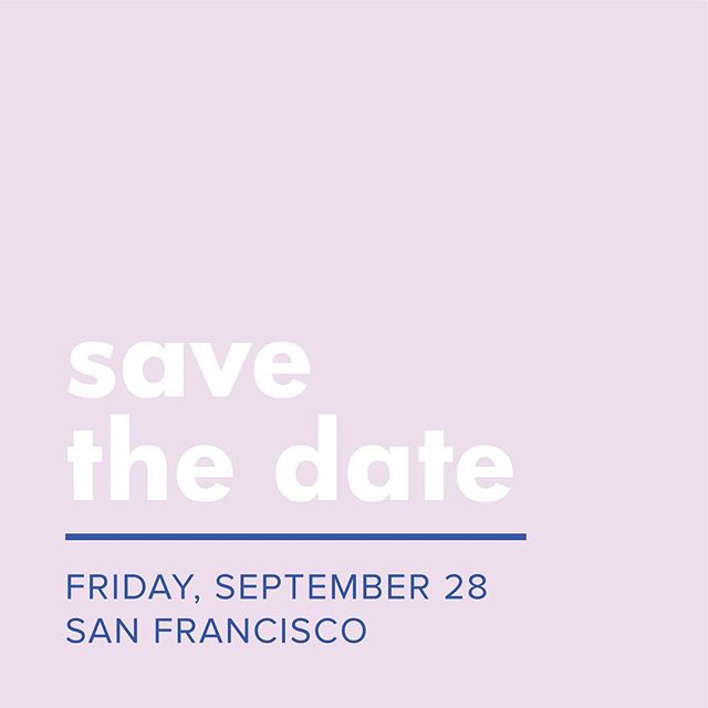 Save. The. Date! We're so excited to host our second In Good Company conference in San Francisco on Friday, September 28 this year! Tickets will be on sale super soon, but until then...mark your calendars & tag a friend! ✨#ingoodcompany✨